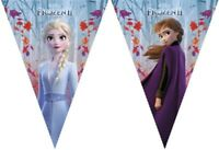 Frozen Elsa Happy Birthday Hanging Banner Bunting Party Decoration Partyware