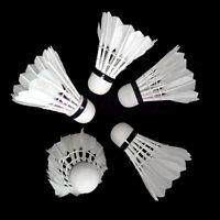 12X Training Sports White Goose Feather Shuttlecocks Birdies Badminton Ball Game