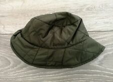 BARBOUR Khaki / Olive Green Quilted Bucket Hat Size Small Good Used Condition!
