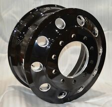 Commercial Truck Trailer 22.5 X 8.25 Aluminum Wheel Black Machined Hub Pilot