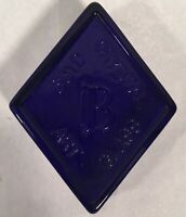 Boyd Dark Blue Crystal Art Glass Paper Weight