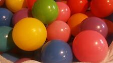 """Pack of 100 pcs 2.5"""" Crush Proof Plastic Balls in 8 Bright Colors Free Shipping"""