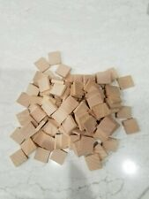 Set of 100 BLANK wood scrabble tiles arts and crafts BLANK SQUARE TILES