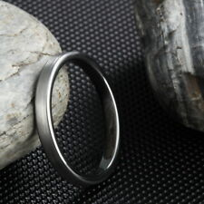 3mm Silver Comfort Fit Women Men Tungsten Rings Wedding Band Promised Engagement