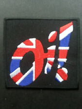 "SKA TWO TONE REGGAE MUSIC SEW ON / IRON ON PATCH:- SKA SLOGAN ""OI"" UNION JACK"