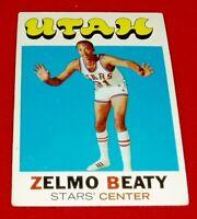 1971-72 BASKETBALL ZELMO BEATY TOPPS CARD # 165  EXM/NM