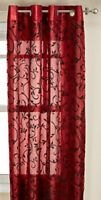 """Kashi Home Adele Collection Window Treatment / Curtain / Panel 54""""x 84"""" Organza"""