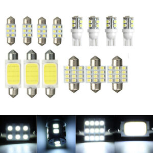 14x White LED Lights Interior Package Kit for T10 & 31mm Map Dome+License Plate