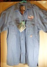 Fox Fire Mens Short Sleeve Button-Up Shirt 4 Front Pockets Size L 100% Cotton