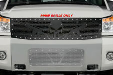 Custom Steel Afterrmarket TOP Grille Kit for 08-14 Nissan Titan Black Grill AR15