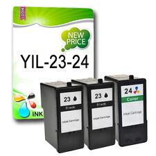 3 ink cartridges Replace for Lexmark 23XL 24XL X4550 Z1400 Z1410 Z1420