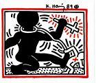 "VINTAGE! ""Graffiti Artist"" Keith Haring Hand Signed 7X9 Color Print COA"