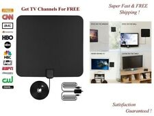 Digital TV Antenna 100 Miles Range 1080P Amplified Booster HDTV UHF VHF FM