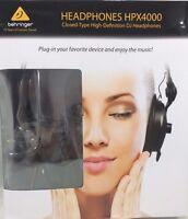 Behringer HPX4000 Closed-Back High-Definition DJ Style Headphones