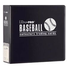 """Ultra Pro 3"""" Black Baseball Card Album - Playing Trading Holder Binder 3 Ring"""