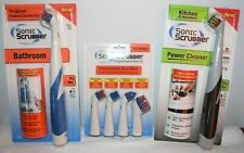 SonicScrubber Power Cleaner Kitchen & Household & a set of Bathroom Brush Heads