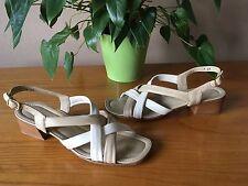 Ladies Amalfi Rangoni beige all leather slingback strappy sandal UK 5 EU 38 AA