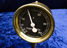 Dewrance & Co. London THERMOMETER Messinstrument Messing, Vintage Brass Gauge
