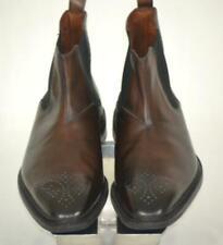 New $425 ALLEN EDMONDS Haight Antiqued Brown Medallion Tip Chelsea Boots 7 E