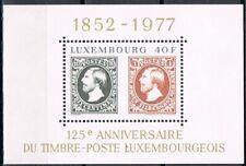 Luxemburg 1977 blok 10 125 jaar Luxemburgse postzegels Cat waarde € 5