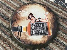 JACK DANIELS OLD NUMBER 7( FRANK SINATRA ) METAL BOTTLE TOP SIGN