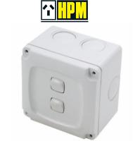 Mk masterseal k56402 ip56 10a 2g Gang 1way interruptor Exterior Resistente Al Agua Gabinete