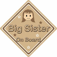 Non Personalised Child//Baby On Board Emoji Car Sign ~ Little Sister On Board
