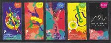 SINGAPORE 2016 50TH ANNIV. SINGAPORE YOUTH FESTIVAL COMP. SET OF 5 STAMPS MINT