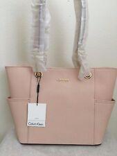 NWT Calvin Klein Saffiano Leather Chain Tote Bag Purse $178 Intimate