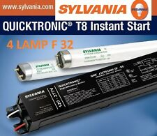 Fluorescent Ballast T8 4 Lamp - SYLVANIA QHE4X32T8/UNV ISN-SC Electronic120-277V