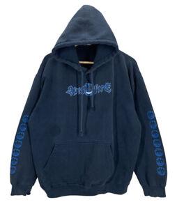 Vintage 90's Spitfire Skateboarding Blue Pullover Hoodie Sweatshirt Medium