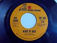 Neil Young Heart Of Gold / Sugar Mountain 45 1971 Reprise Harvest Vinyl Record