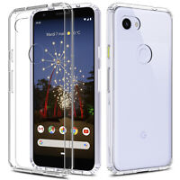 For Google Pixel 3a/ 3a XL Shockproof Crystal Clear Transparent Phone Case Cover