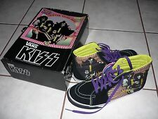 KISS Rare HOTTER THAN HELL Vans Sk8 Hi Top Shoes NIB! 7, 9.5