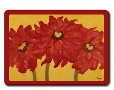 Red on Gold Placemats (set of 4) - Free Shipping!