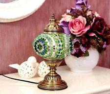 Lampshade Turkish Table Lamp 1 Ball Moroccan Handmade Mosaic Stunning Green desk
