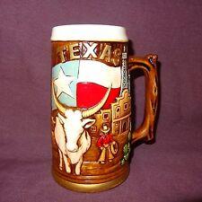 New listing Texas Longhorn Cattle Cowboy Flag Cactus Coffee Mug 18 oz Cup Stein Ceramic
