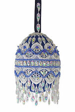 """Satin Beaded Christmas Ornament Kit - """"Frosted Window Panes"""""""
