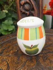 Retro Vintage 1960s 70s  Pottery Salt Shaker Apple Design