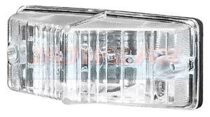 DOUBLE BURNER STYLE WHITE/CLEAR FRONT MARKER LIGHT/LAMP RETRO SCANIA TRUCK VAN