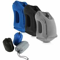 2017 Inflatable Air Cushion Travel Sleep Pillow Neck Head Support Camping Flight