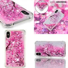 Sakura Cherry blossom AntiFall Glitter Stars Dynamic Bling Liquid Quicksand case