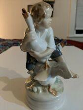 Royal Copenhagen Figurine- #2139-Boy With Geese-7 Inch