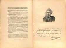 Portrait Henry Bauër fils d'Alexandre Dumas Commune de Paris Communard 1897