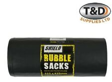 More details for heavy duty extra large black builders rubble waste sacks bags garden refuse