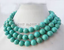 Beads Necklaces Long 36 inches Aa 12mm Natural Turkey Turquoise Gemstone