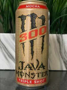 NEW JAVA MONSTER 300 TRIPLE SHOT MOCHA COFFEE + ENERGY DRINK 15 FL OZ FULL CAN
