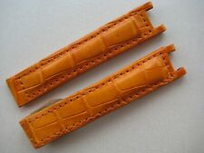 GENUINE CARTIER PASHA WATCH STRAP BAND ORANGE ALLIGATOR LEATHER 16 x 14 mm