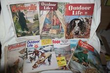 7 old old Outdoor Life magazines 1921-1959