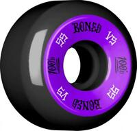 Bones Skateboard Wheels 55mm Black Wheels, 100's #1 V5 - Purple